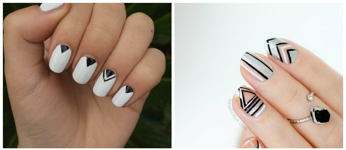 latest-nail-trends-latest-nail-designs-latest-nail-art-geometric-latest nail art