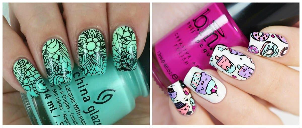 nail-art-2017-nail-art-ideas-nail-art-design-2017-stamping-nail art design 2017