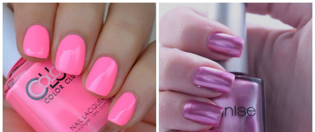 nail-color-2017-nail-polish-colors-2017-nail-color-trends-pink-and-lilac-Nail colors 2017: Ideal red, Neutral base, and Dark Scale