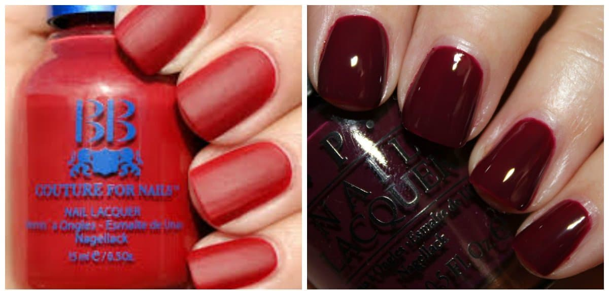 nail-color-2017-nail-polish-colors-2017-nail-color-trends-red-Nail colors 2017: Ideal red, Neutral base, and Dark Scale