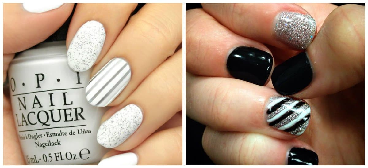 nail-color-trends-2018-nail-paint-shades-popular-nail-colors-black-and-white-Nail color trends 2018