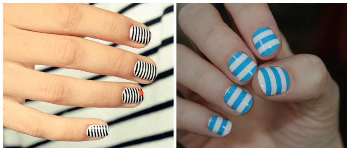 nail-design-ideas-2018-nail-art-2018-popular-nail-colors-2018-striped-nail art 2018