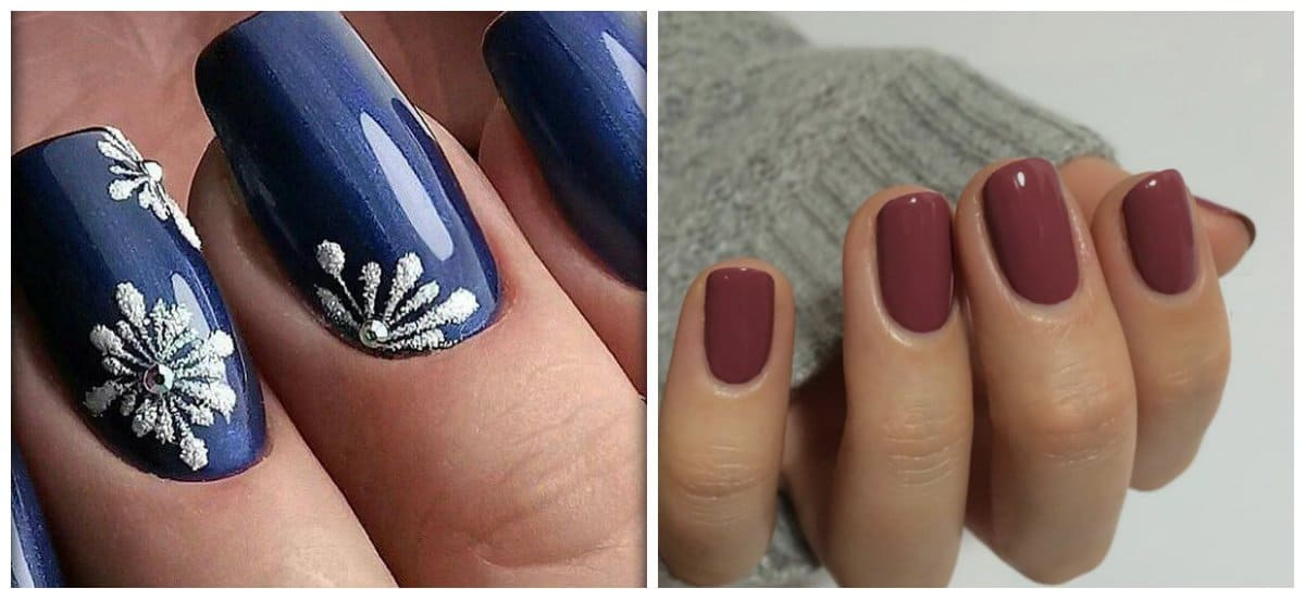 nail-design-ideas-2018-nail-art-2018-popular-nail-colors-2018-burgundy-blue-popular nail colors 2018