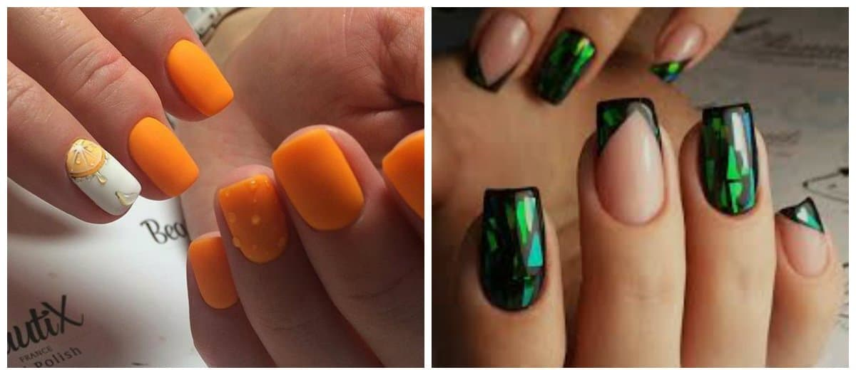 nail-design-ideas-2018-nail-art-2018-popular-nail-colors-2018-green-and-orange
