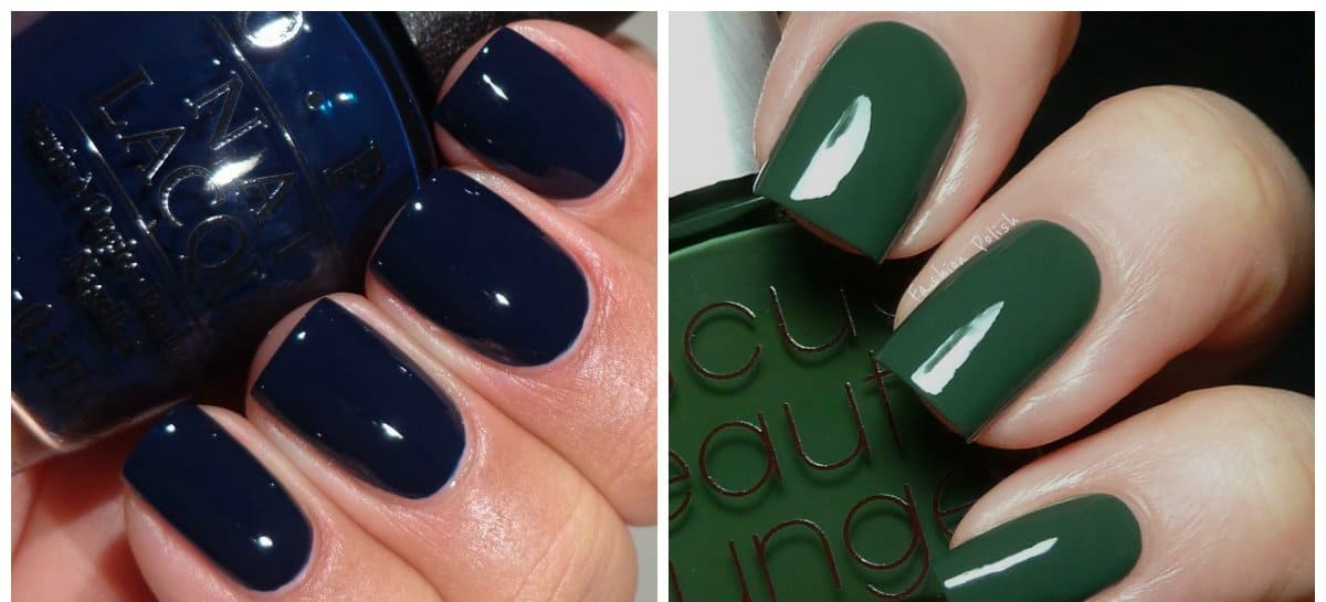 nail-polish-2017-nail-polish-trends-2017-nail-polish-colors-nail-varnish-colors-dark-blue-and-green-brown-nail polish colors