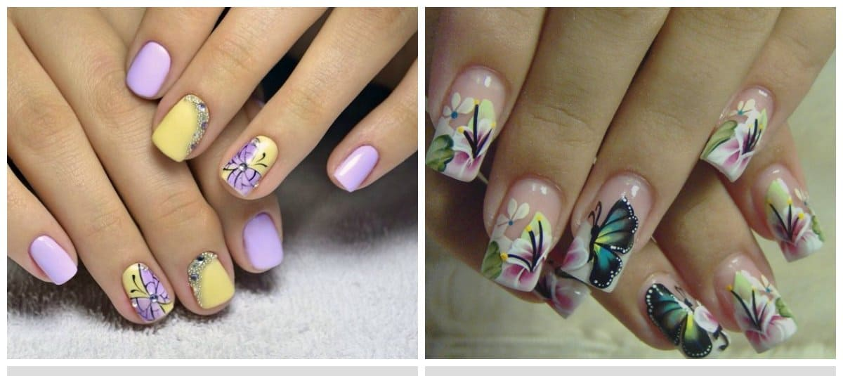 nails-2018-nail-styles-2018-nail-patterns-butterfly-design-nail styles 2018