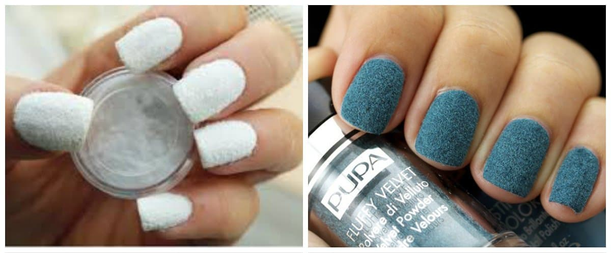 new-nail-trends-new-nail-designs-new-nail-art-velvet-new nail art