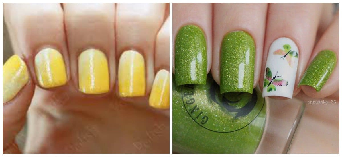 summer-nail-colors-summer-nail-polish-colors-summer-nails-green-and-yellow-summer nail colors
