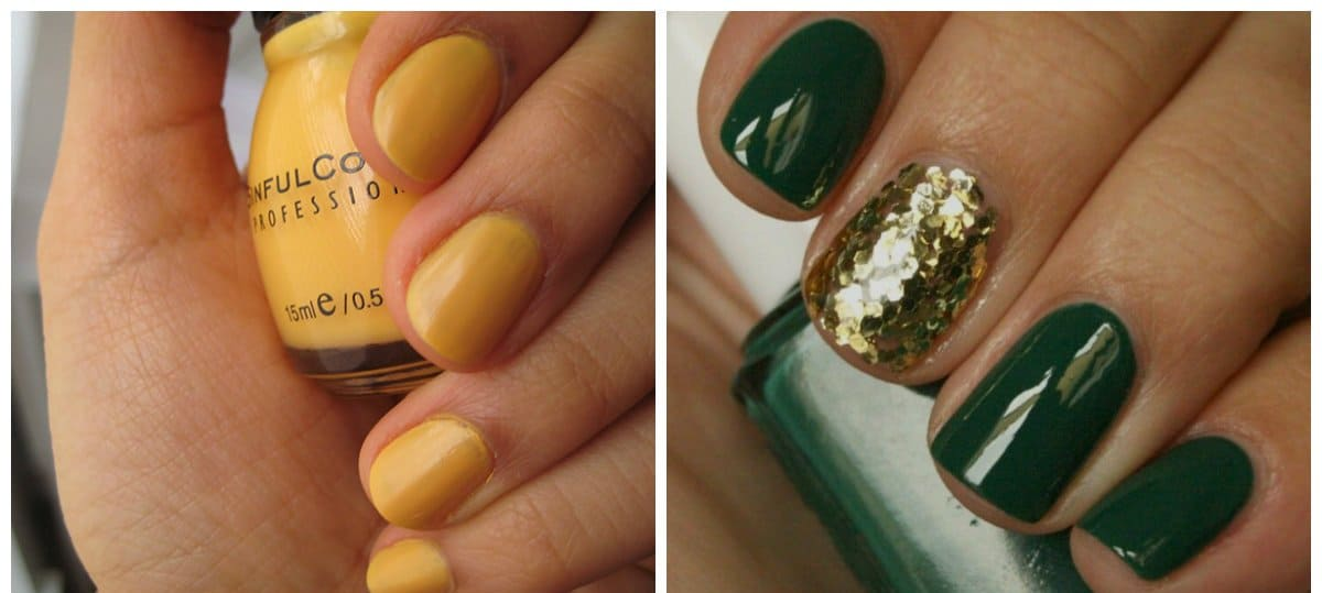 summer-nail-colors-summer-nail-polish-colors-summer-nails-green-and-yellow-summer nails