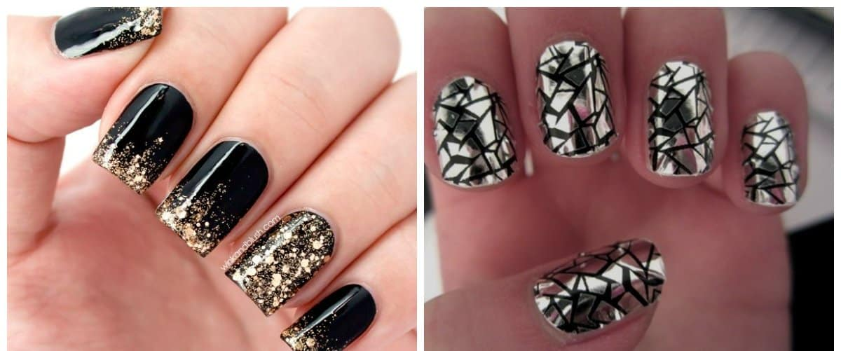 winter-nail-colors-winter-nail-polish-colors-nail-art-winter-metallic-black-winter nail polish colors