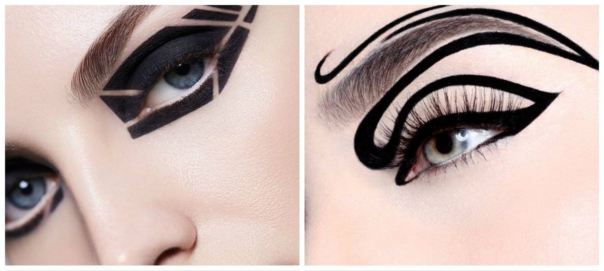 2018-makeup-trends-makeup-looks-2018-current-makeup-trends-graphic-makeup-current makeup trends