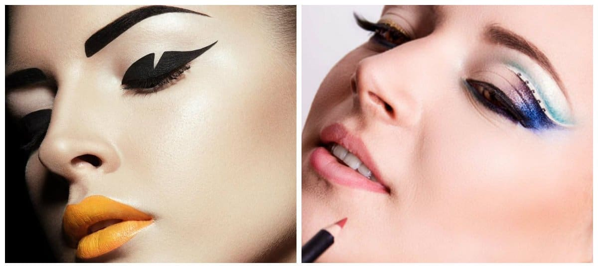2018-makeup-trends-makeup-looks-2018-current-makeup-trends-graphic-makeup-current makeup trends-makeup looks 2018