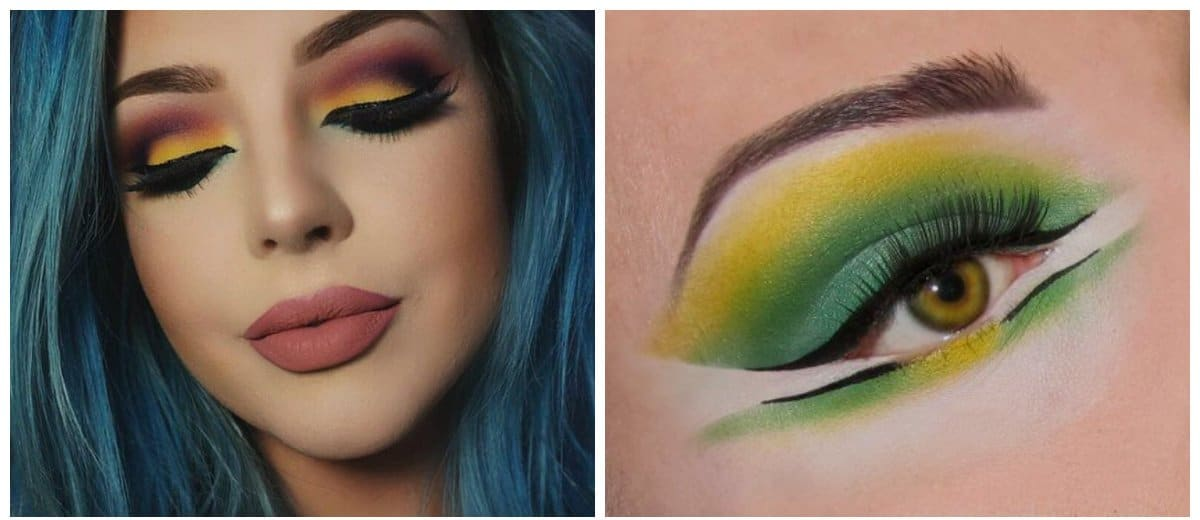 high-fashion-makeup-beautiful-makeup-current-makeup-trends-lemon-color-High fashion makeup