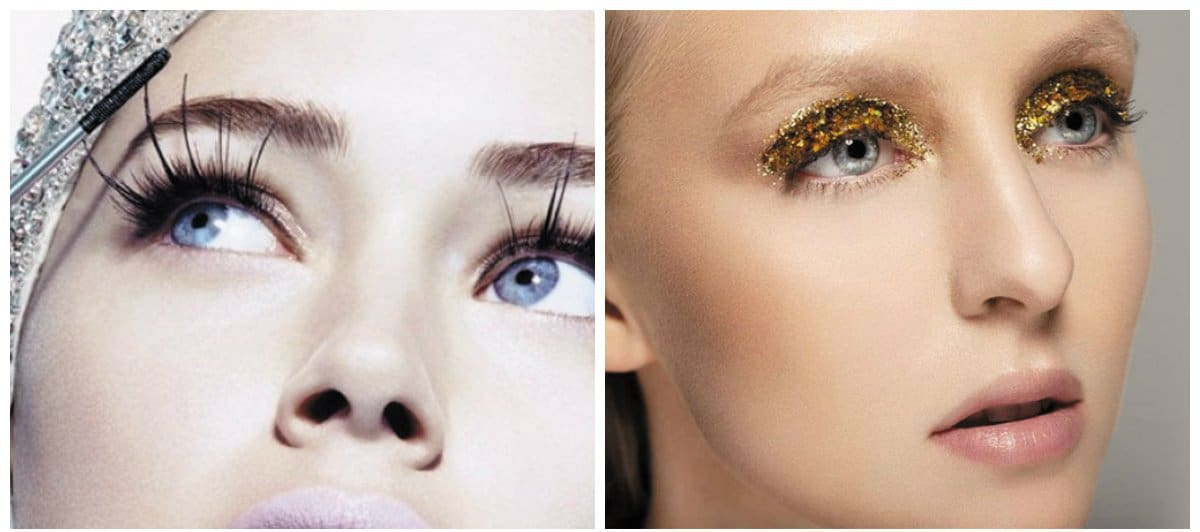 makeup-trends-2018-trendy-makeup-2018-makeup-styles-2018-sequins-makeup styles 2018