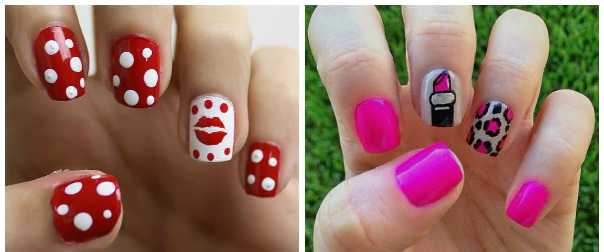 nail-art-2018-nail-art-design-2018-easy-nail-art-kiss-and-lipstick-Nail art design 2018