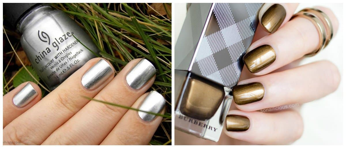 nail-colors-2018-nail-polish-colors-2018-nail-color-trends-silver-and-gold-nail polish colors 2018