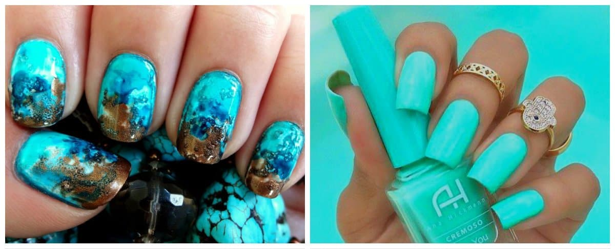 nail-colors-2018-nail-polish-colors-2018-nail-color-trends-turquoise-Nail colors 2018