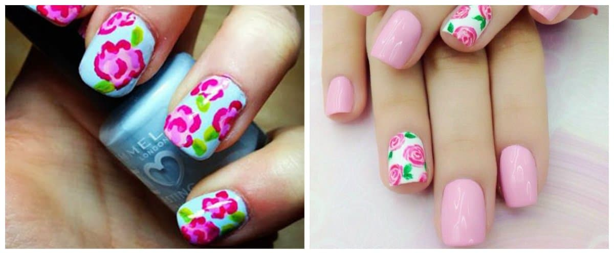 nail-designs-2018-nail-design-ideas-nail-polish-trends-2018-floral-Nail designs 2018
