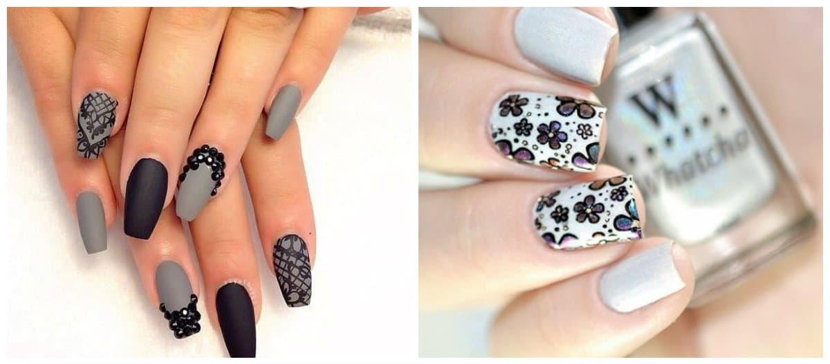 nail-designs-2018-nail-design-ideas-nail-polish-trends-2018-gray-nail polish trends 2018