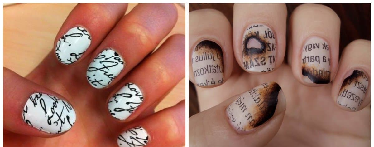 Exelent How To Get Newspaper Nails Festooning - Nail Art Design ...