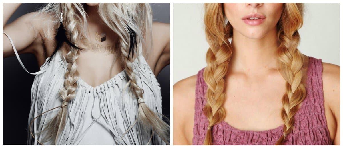 short-hairstyles-2019-short-hair-trends-easy-hairstyles-for-short-hair-pigtails-boho-easy hairstyles for short hair