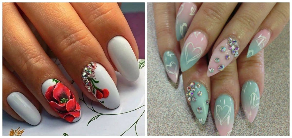 Almond nails 2018: fashionable and interesting almond nail designs