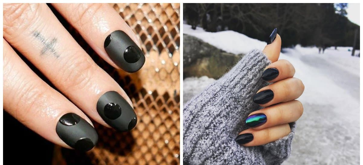 Black Nail Designs 2018 Stylish Ideas And Trends Of Black Nail Art