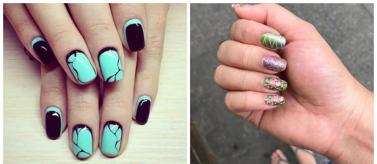 green nail polish designs, stylish ideas with green nail polish