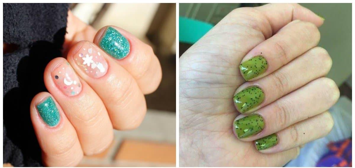 green nail polish colors, trendy green nail polish shades