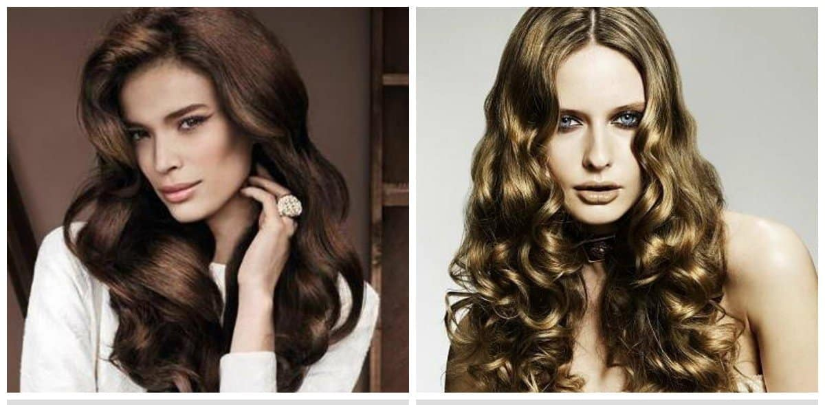 long haircuts for women, fashionable waves and curls