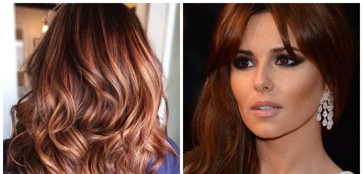 hair color trends 2019, chocolate copper color