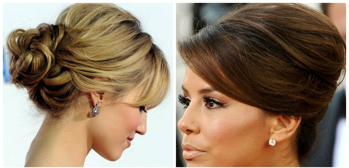 new hairstyle 2019, fashionable french twist hairstyle
