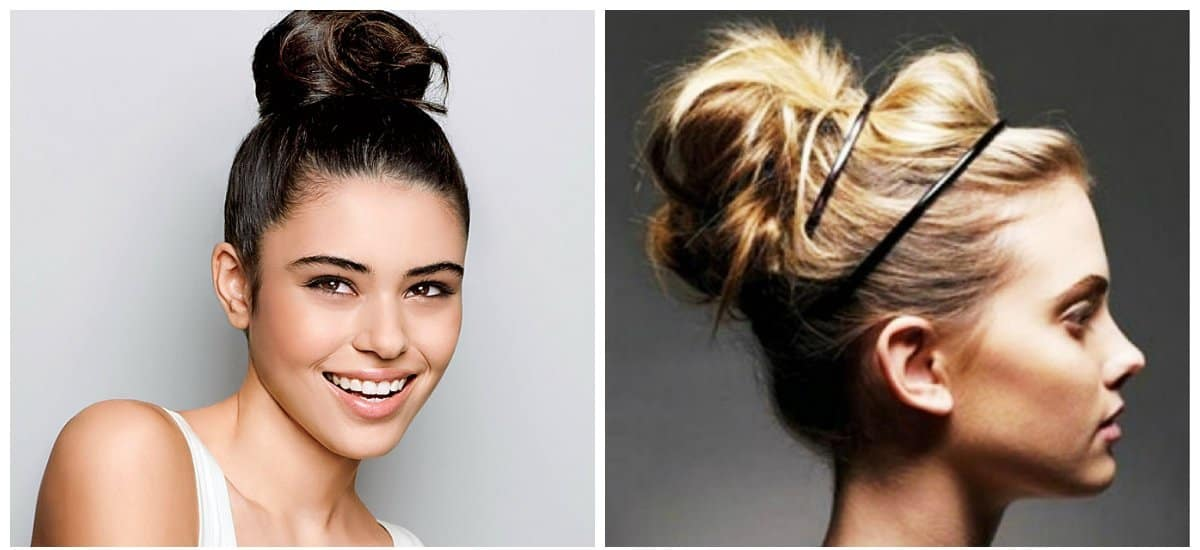new hairstyle 2019, fashionable high hairstyles for women