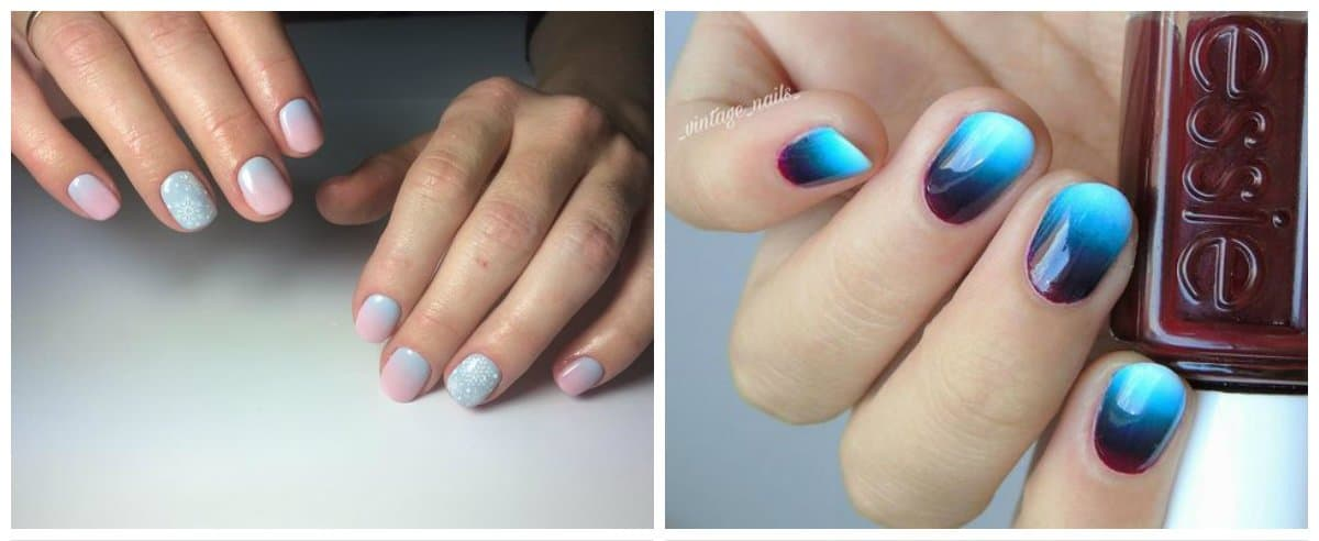 ombre nails 2018, stylish ideas of ombre nail art