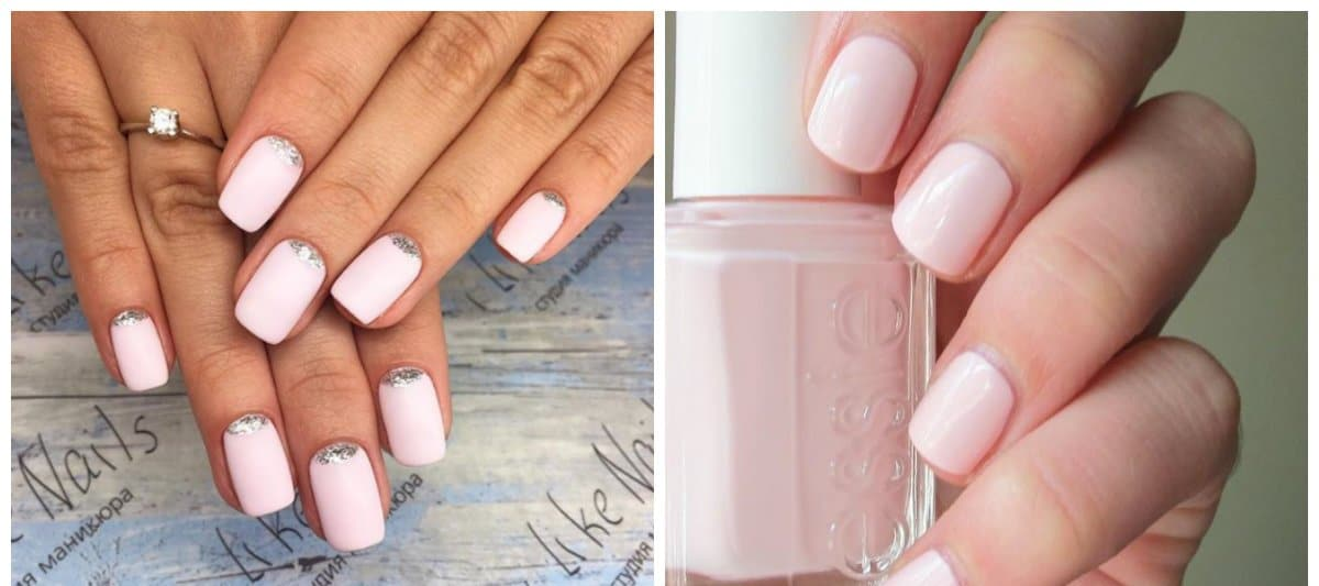pink nail polish colors, fashionable pink beige shade