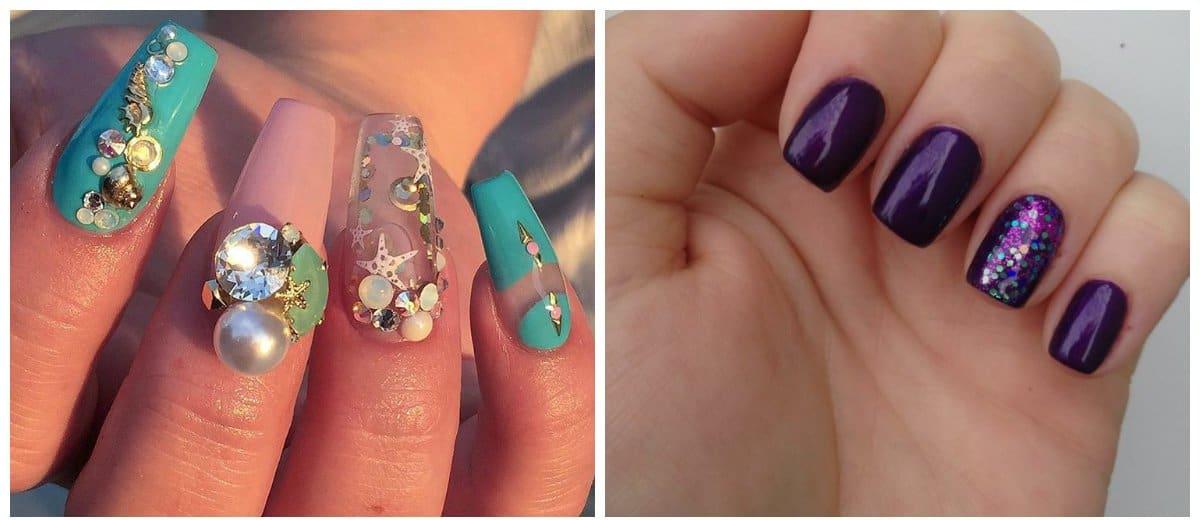 shellac nail art, acquarium nail design