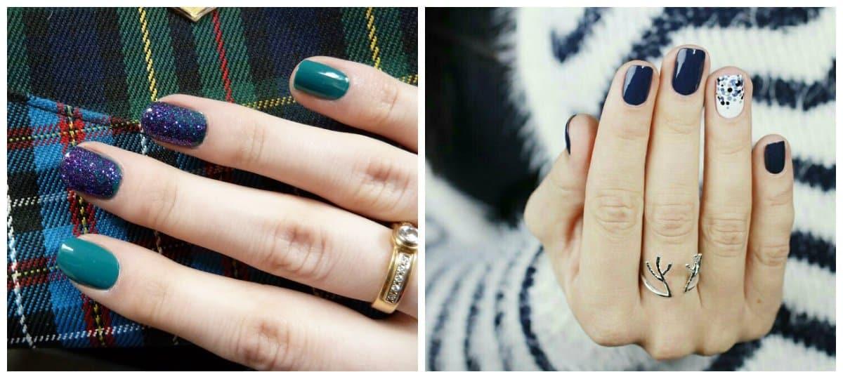 shellac nail art, trendy feng shui shellac nails