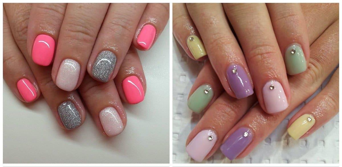 shellac nail designs, trendy shellac pastel nails