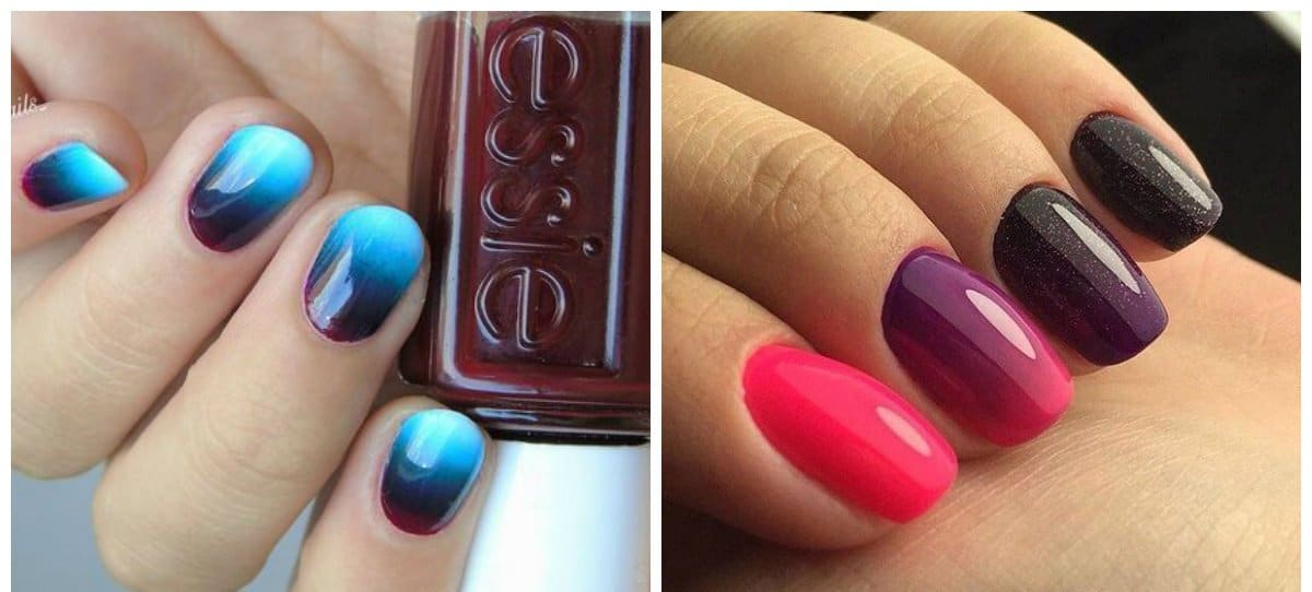 short nails 2018, short ombre nails 2018