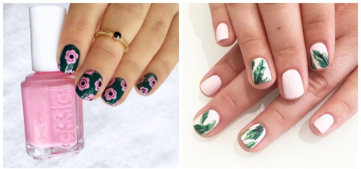 nail art for short nails, short nails with drawings