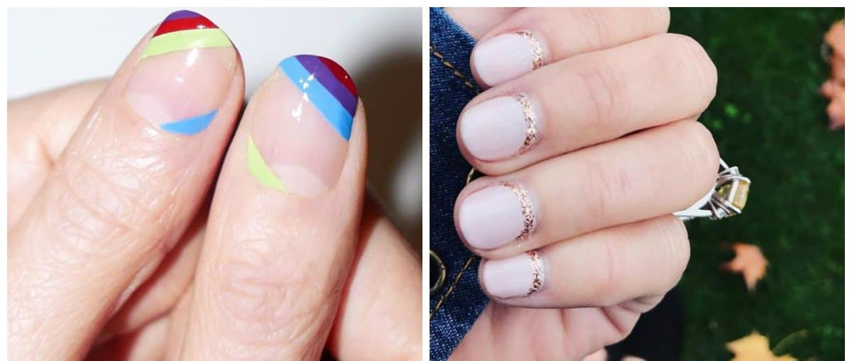 short nail designs 2018, trendy ideas for short nail art