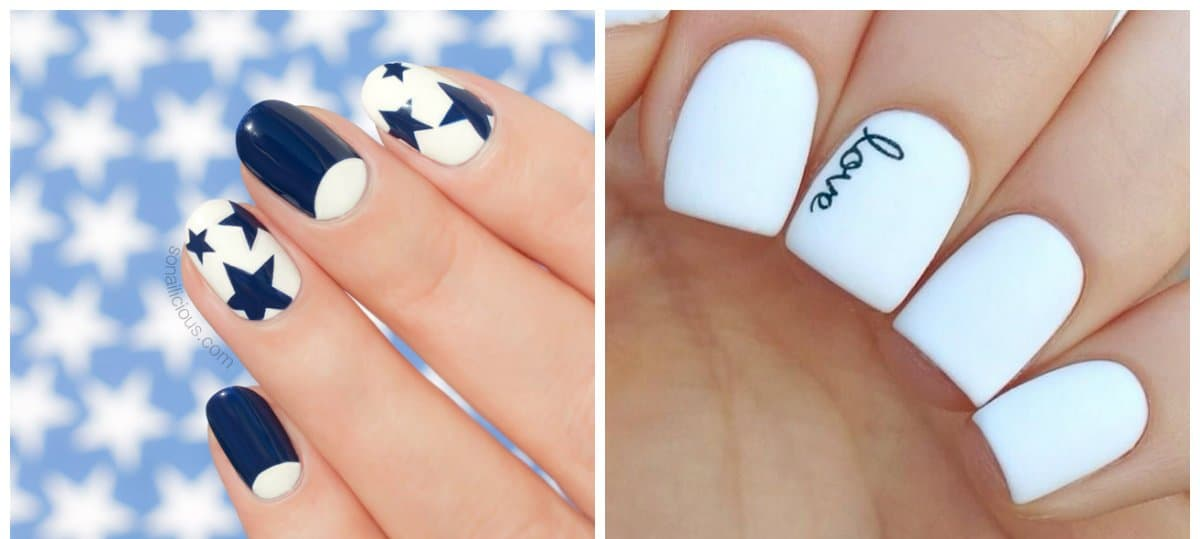 white nails 2018, stylish ideas of white nails 2018