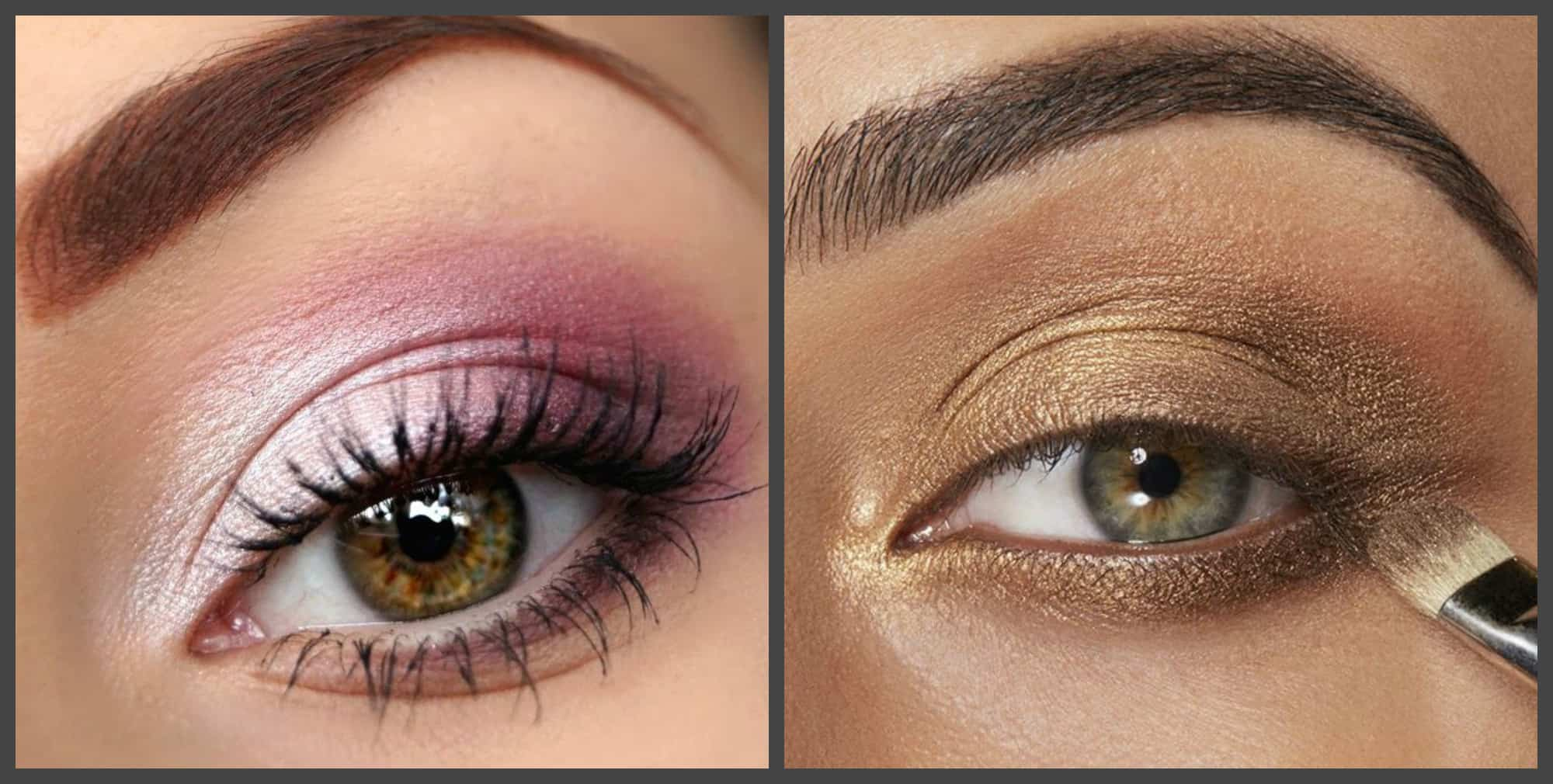 eye makeup ideas, pink and bronze eyeshadow 2018