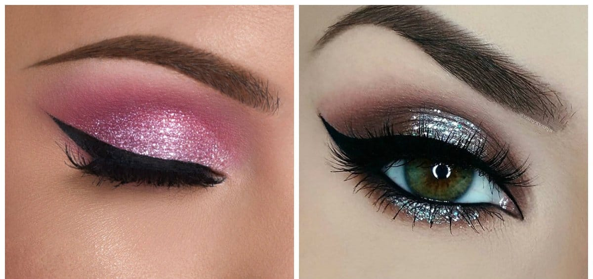 eyeshadow palettes 2018, glitter eye makeup