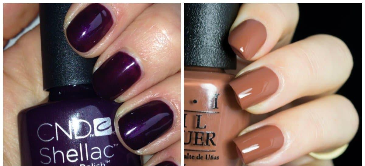 fall nails 2018, plum nails, chocolate nails