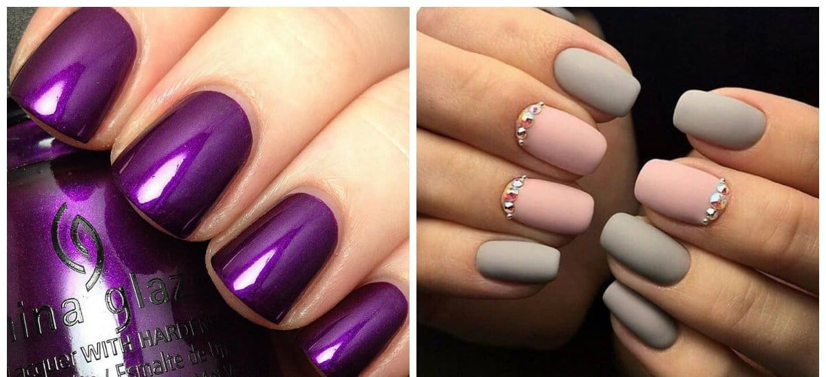 fall-nail-colors-2018-fall-nails-2018-fall-nail-art-purple-nails ...