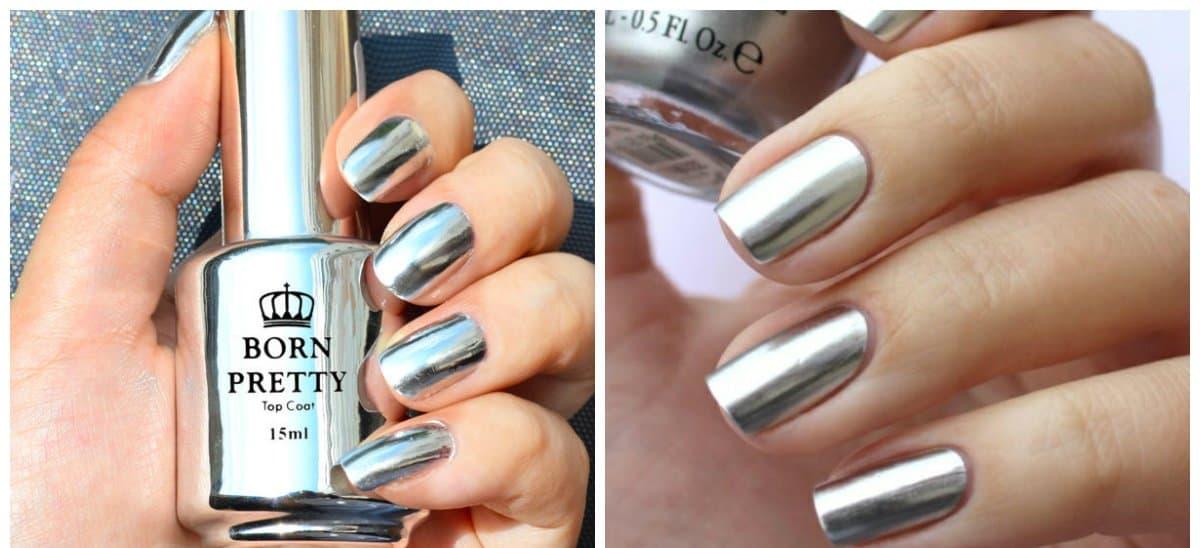 fall nails 2018, fashionable silver nails 2018