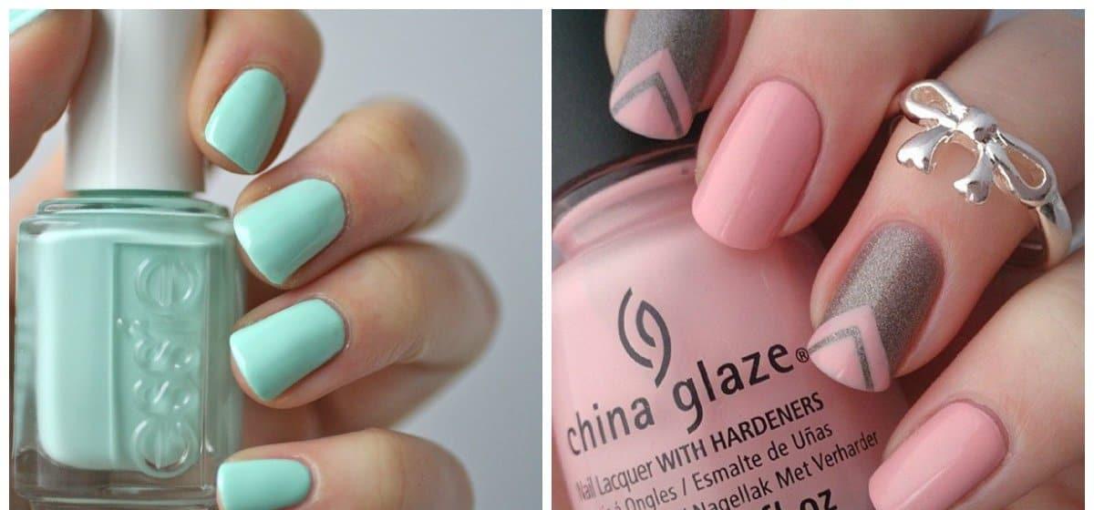 fall nails 2018, snow mint nails, pink nails