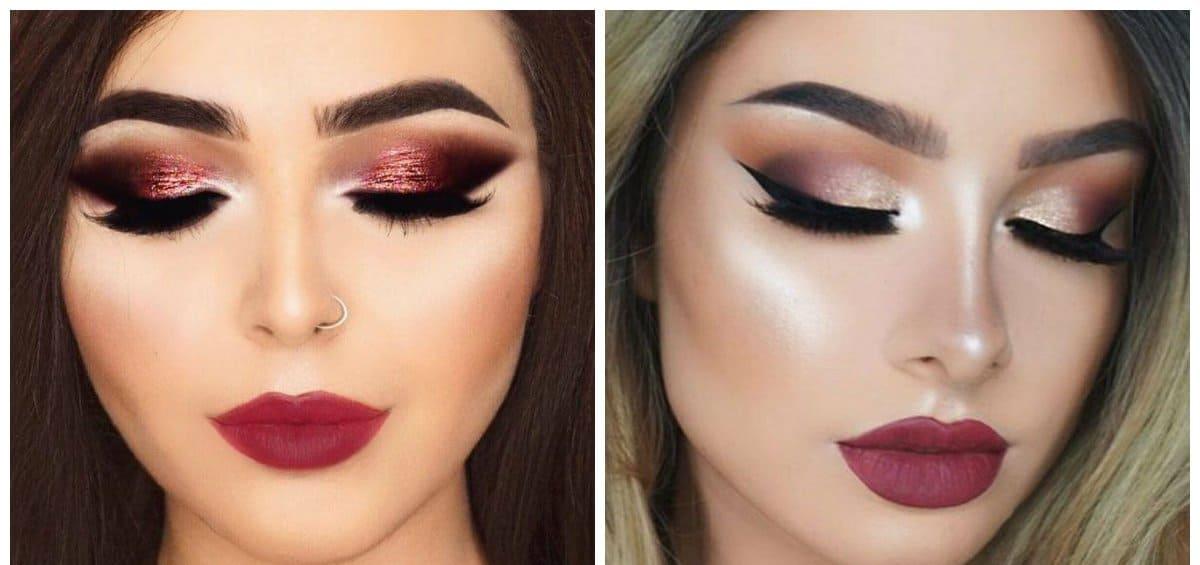fashion makeup 2018, fashionable berry makeup