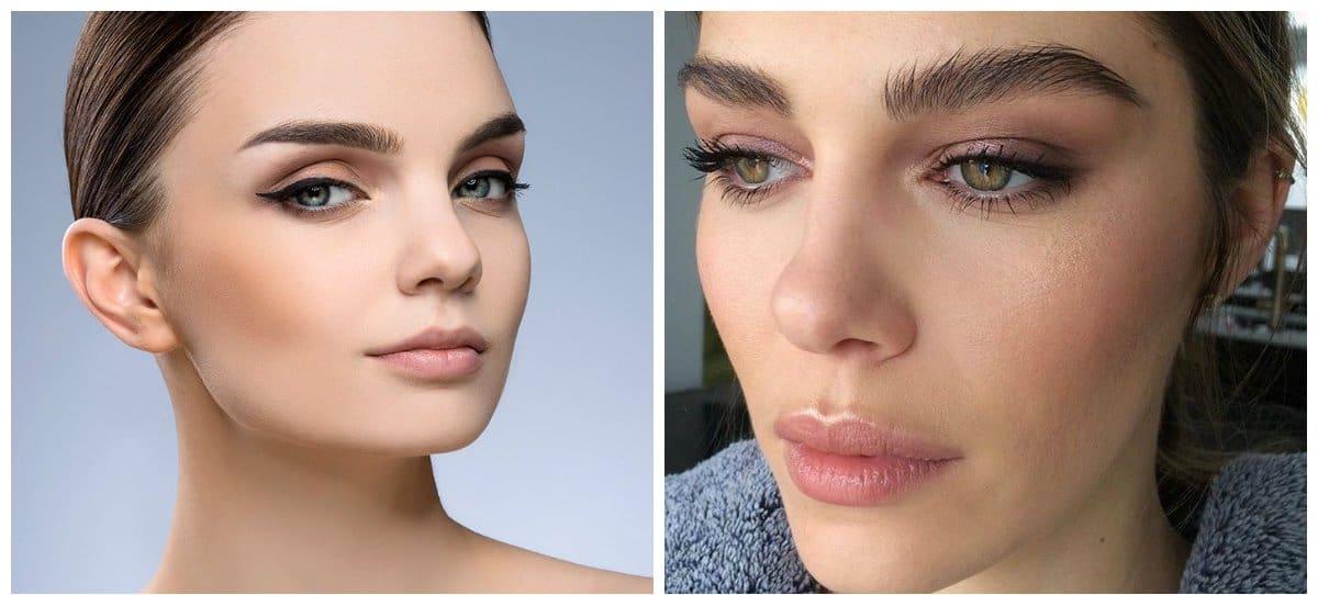 fashion makeup 2018, stylish natural eyebrows